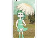 Spring Meadow -  iPhone 4/4S/5 iPad 2/3 - Phone Case - Accessories - Fine Art Digital Painting - Fantasy, Whimsical, Cute, Daisy, Girl