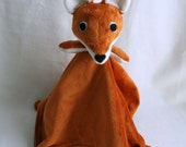 Fox Lovey Blanket PDF Sewing Pattern - Soft Toy for Baby
