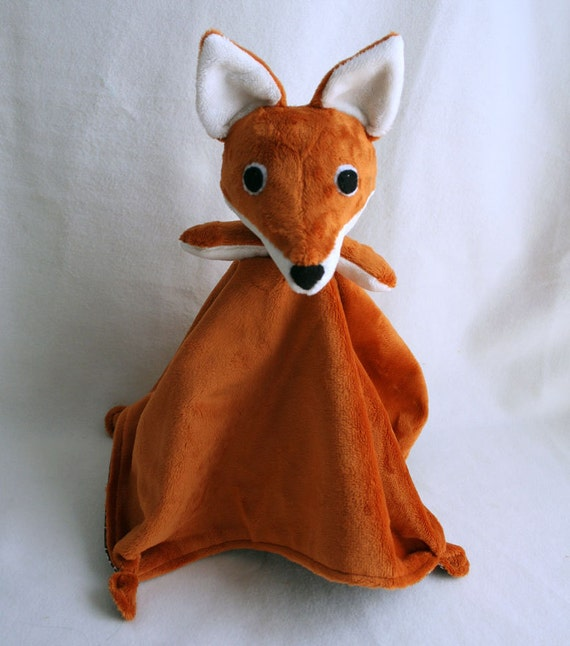 Fox Lovey Blanket Pdf Sewing Pattern Soft Toy For Baby
