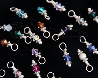 Swarovski Crystal Birthstone Add On for Any Necklace or Bracelet - Birthstone jewelry - Birthstone Charm - Birthstone Crystal Stone