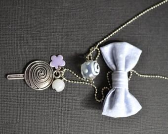 Node and lollipop necklace