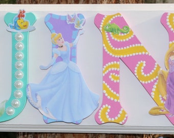 Disney Princess Plaque - Customize by Name, Color and Characters!