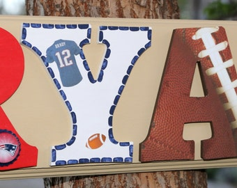 New England Patriots Plaque - Customize Name, Colors and Players! All teams welcome!