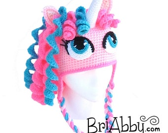 Items similar to Crochet Unicorn / Pony Hat (12-18 months-Ready to ...