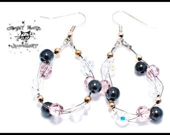 CLEARANCE : Rose Swarovski Dangle & Drop Earrings