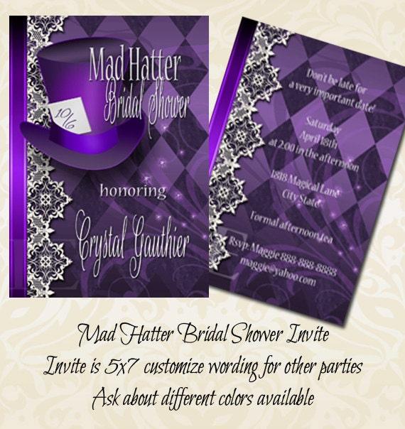 Mad Hatter Bridal Shower Invitation | Bridal Shower Invitation ...