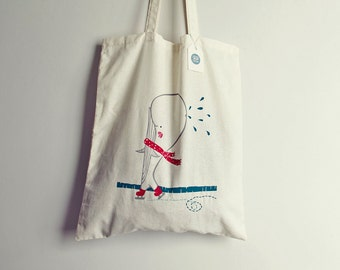 Tote Bag Ballena -  cotton - original illustration