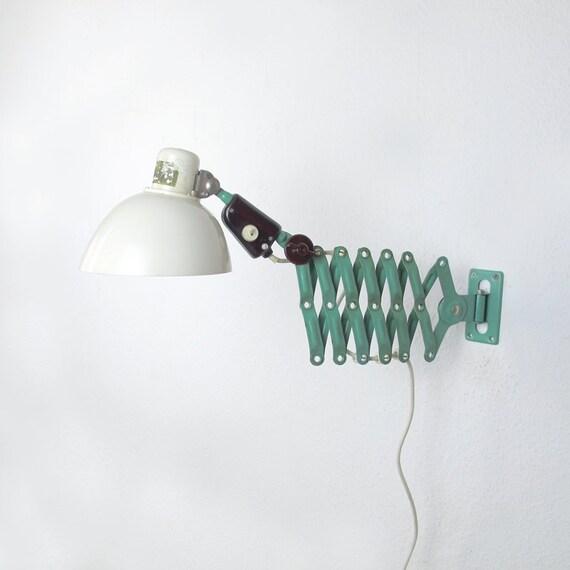 Lampada da parete industriale Scissor. Nero e grigio luce muro