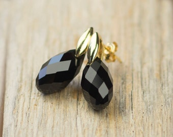 Swarovski Earrings - Swarovski Jet Black Crystal Earrings - Black Earrings - Swarovski Stud Earrings - Sparkling Earring