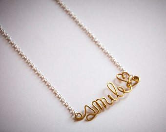 Necklace with custom word, chocker with personalized name, handmade, customized necklace