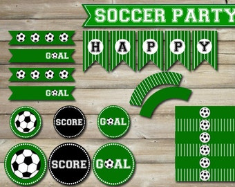 Soccer Birthday Party Printable Collection