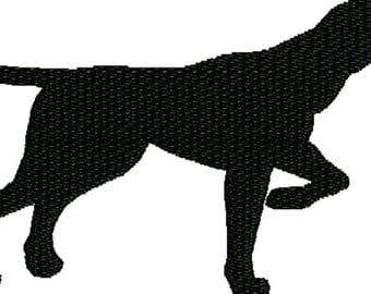 embroidery design dog , Pointer Silhouette
