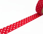 Red Washi Tape with White Polka Dot - Spotty Masking Tape