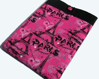 Macbook Air Case, Macbook Air Sleeve, 13 inch Macbook Air Cover, 13 inch Macbook Air Case, Laptop Sleeve, Pink Paris