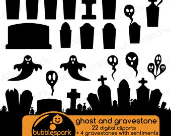 Halloween ghosts - digital clip art gravestones and scary graveyards, graveyard hill, tombstone clip art graveyard