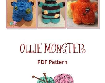 Ollie Monster Amigurumi - PATTERN ONLY - PDF
