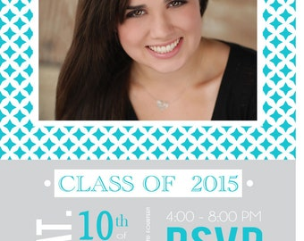Printable Graduation Party Invitation -  Photo Grad Announcement