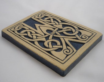 Letter W Celtic Knot Alphabet Tile