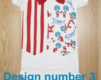 Baby boy coming home outfit - Dr seuss birthday - Thing 1 and thing 2 - Dr seuss party - Baby boy birthday outfit - Cat in the hat shirt