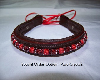 Pony Size Beaded Browband - Fully Custom with interchangeable beads