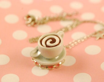 coffee cup necklace - food jewelry