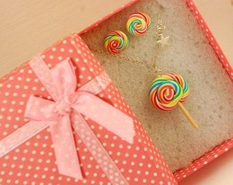 lollipop jewelry set - food jewelry