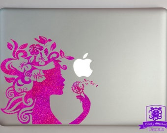 Flower Girl and wishie Macbook Laptop Decal