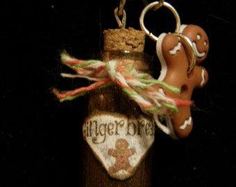 Gingerbread Bottle Charm Necklace