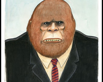 Mr Sasquatch giclee print of an illustration by David Lasky