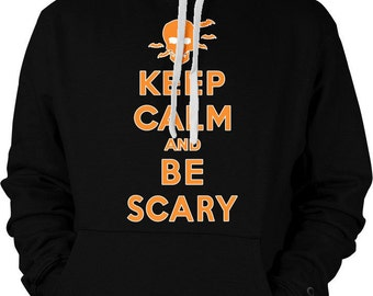 KEEP CALM and Be Scary!, Halloween Costume Shirt, Cheap Halloween Hoodie, Happy Halloween Sweatshirt - Two-Toned Hoodie - GH_01106_2tonehood