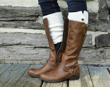 Button Down Boot CUFFS for Women - Boot sleeve - wear peeking out like boot socks too...