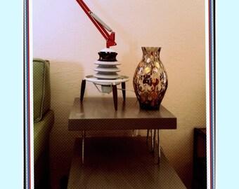 Scientific Sci Fi Tesla Steam Punk Industrial Insulator Repurposed Mid Century Atomic Assemblage Desk Table Lamp Lighting Free Shipping US