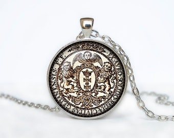 Vintage coin pendant vintage coin necklace old coin jewelry\