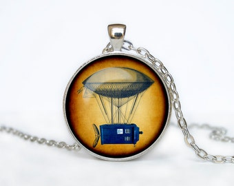 TARDIS NECKLACE Doctor Who Time Machine Pendant necklace Pendant Tardis Necklace Doctor Who Jewelry