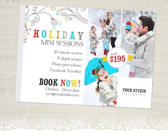 Holiday Mini Session Template for Photographers - MS06