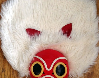 Princess Mononoke Mask Headdress Cosplay Custom Made Handmade Costume