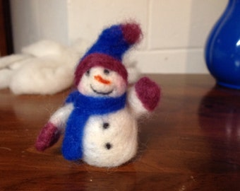 Needle Felted Snowman