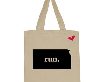 RUN Kansas Canvas Tote Bag