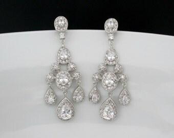 Big bridal earrings | Etsy