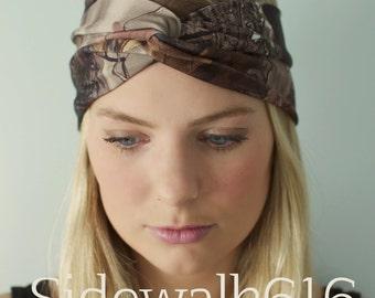 Camo Headband Real Tree Camo Head Wrap Turban