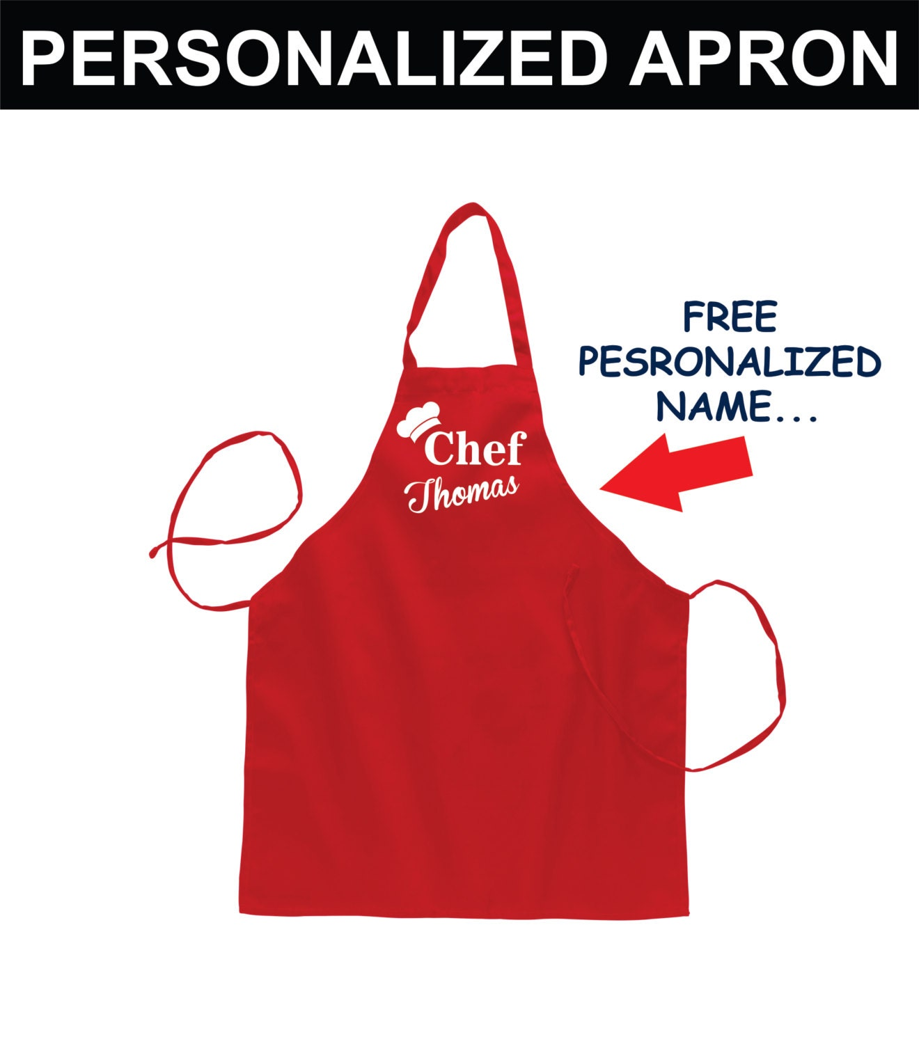 Personalized Apron for Men Fathers Day Grilling Aprons Women