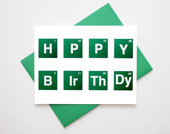 Breaking Bad Birthday Cards Geeky Birthday Card Breaking