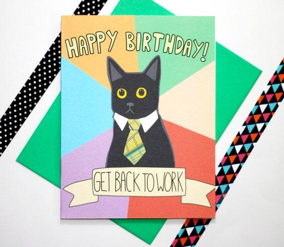 Business Cat Meme Funny Birthday Card Van TurtlesSoup Op Etsy