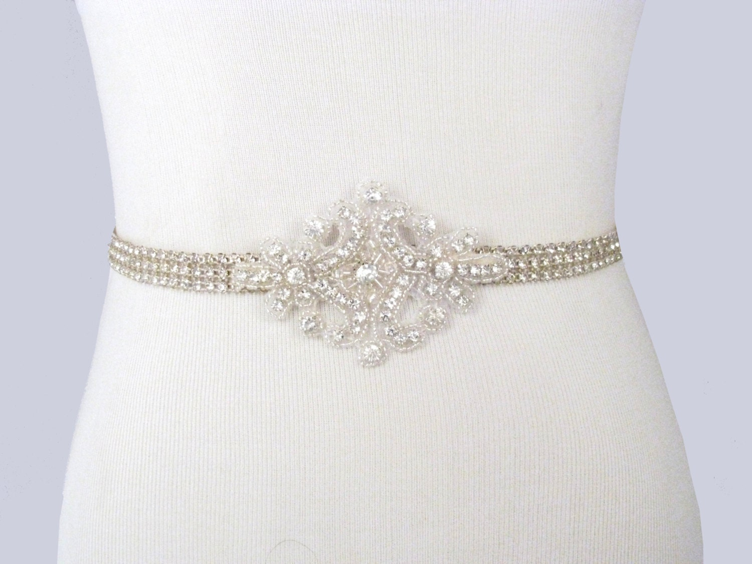 Bridal sash rhinestone wedding belt crystal dress sash for Belts for wedding dress
