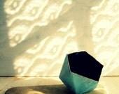 blu geometric bowl - small - mache'
