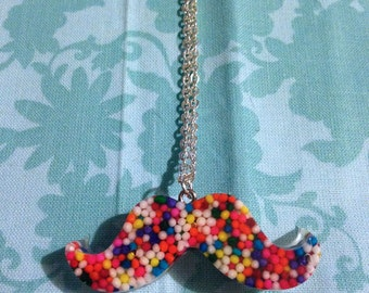 Sprinkle Mustache Necklace