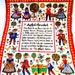 yesteryears retro Pennsylvania Dutch Amish Country strudel tea towel; Austrian Kolf folk art; linen kitchen napkin; gift idea
