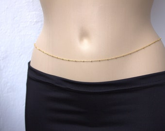 Gold Belly Chain Personalized Belly Chain Name Belly Chain