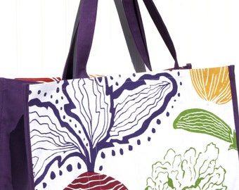 Beet Farmers Market Bag - Marketing Tote - Shopping Bag - Purple