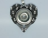 NOOSA Style Heart Pendant For Chunk Charms Ginger Snaps Style Pendant